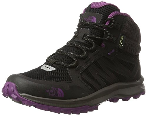 THE NORTH FACE Damen Litewave Fastpack Mid Gore-tex Trekking- & Wanderschuhe, Schwarz (TNF Black/Wood Violet), 41.5 EU