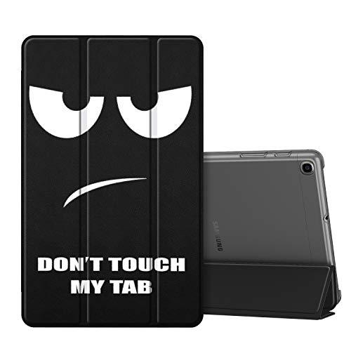 Fintie Hülle für Samsung Galaxy Tab A 10,1 SM-T510/T515 2019 - Superdünn Schutzhülle mit durchsichtiger Rückseite Abdeckung Cover für Samsung Galaxy Tab A 10.1 Zoll 2019 Tablet, Don't Touch