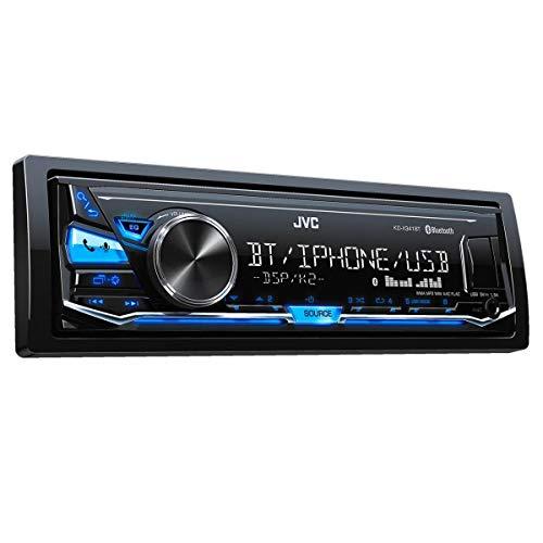 JVC KD-X341BT Bluetooth Negro Receptor Multimedia Para Coche - Radio Para Coche (4.0 Canales, FM,LW,MW, 87,5-108 MHz, 153-279 KHz, Mos-FET, 2 Líneas)