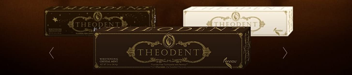 ニュージーランド完全に乾く相談Theodent Toothpaste - Flouride Free - Luxury - Mint Classic - 3.4 oz