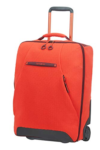 Samsonite Neoknit - Travel Duffle/Backpack with 2 Wheels S, 55 cm, 41 Litre, Orange (Fluo Red/Port)
