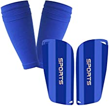 GeekSport Youth Soccer Shin Guards for Kids Toddler Shin Pads Calf Sleeves USA Soccer Gear for 3 5 4-6 7-9 10-12 Years Old Children Teens Boys Girls Blue M 3'11'' - 4'6''