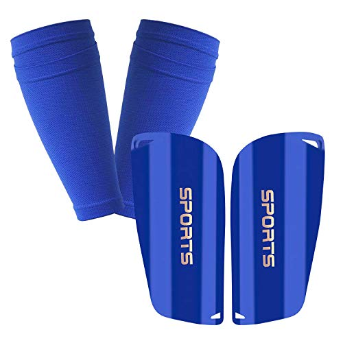 GeekSport Youth Soccer Shin Guards for Kids Toddler Shin Pads Calf Sleeves USA Soccer Gear for 3 5 4-6 7-9 10-12 Years Old Children Teens Boys Girls Blue S 3'3'' - 3'11''