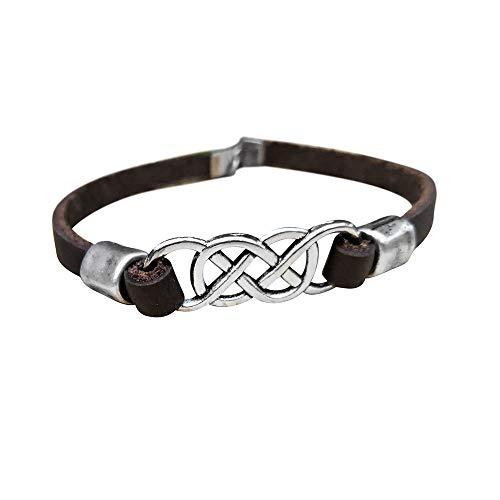 Infinity Men Anklet, Celtic Knot Men's Natural Leather Ankle Bracelet