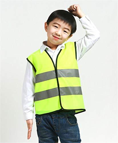 Vest Reflecterende Veiligheid Kids Veiligheidsvest Reflecterende Kleding Kinderen Beschermend Vest Hoge Zichtbaarheid Geel Fluorescerende Veiligheid Vest Voor School Outdoor Geel