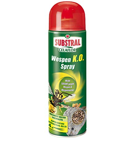 Substral Celaflor Wespen K.O. Spray, gegen Wespe und Wespennest, Super- Distanz-Sprühstrahl bis 4 Meter - 500 ml