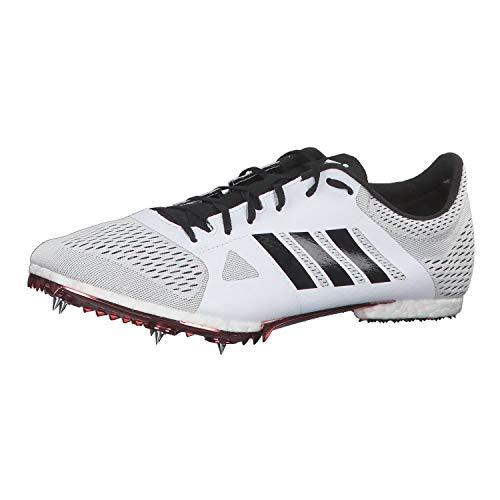 adidas Adizero MD, Scarpe da Corsa Unisex-Adulto, Bianco (FtwrWhite/CoreBlack/ShockRed), 44 EU