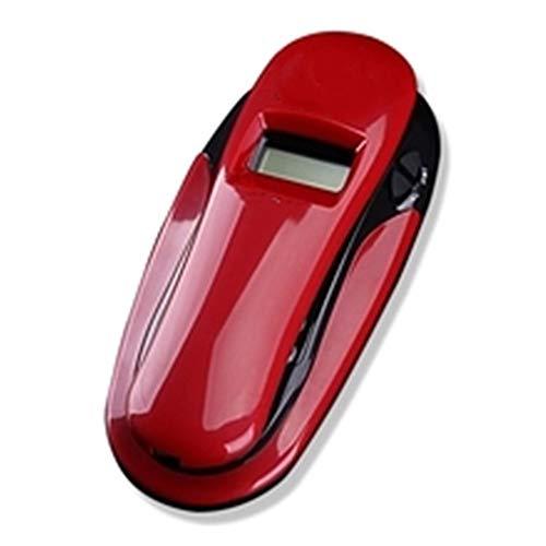 LLDKA Teléfono analógico con Cable - Sin batería Teléfono de Pared, Identificador de Llamadas, Botón de Moda,Blanco