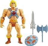 Masters of the Universe HGH44, Origins He-Man Action Figure, Personaggio da Combattimento per Il Gioco e da Collezione, Multicolore