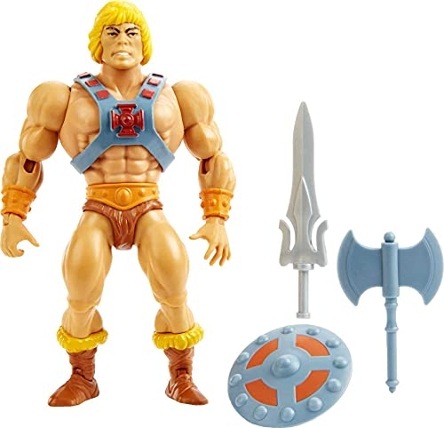 Masters of the Universe Origins He-Man Action Figure, Battle Character for Storytelling Play and Display, Gift for 6 to 10 Year Olds and Adult Collectors