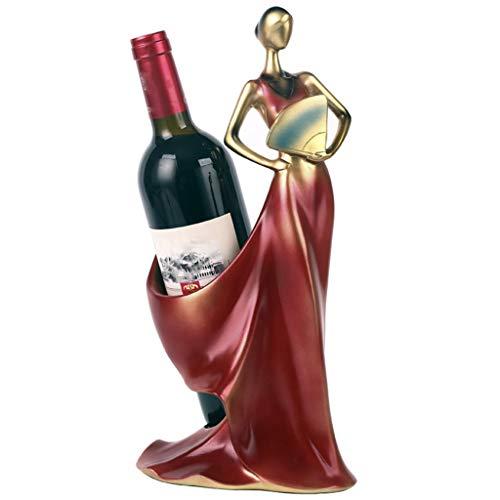 CHINESS Estante para Vinos, Estante para Copas De Vino Colgante, Estante para Botellas Artesanales De Metal, Puede Colgar 1 Taza, para Cocina De Bar, 19x16x36cm, Azul/Rojo