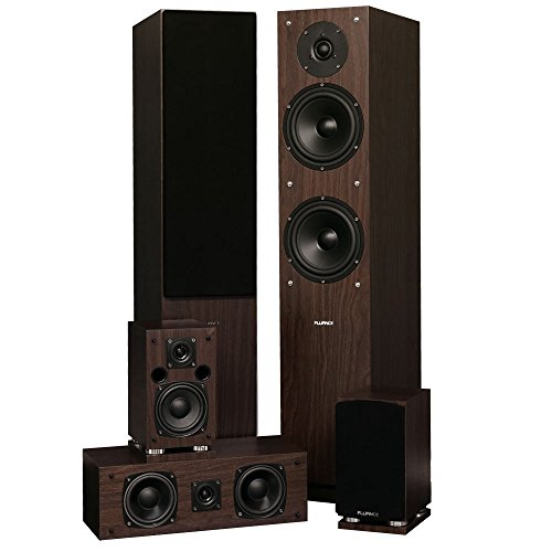 Great Deal! Fluance SXHTBW High Definition Surround Sound Home Theater 5.0 Channel Speaker System In...
