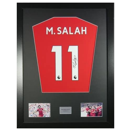 ffbfd2e4f Mohamed Salah Liverpool Signed Shirt Framed Display with COA