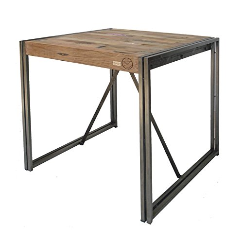 Tousmesmeubles Table Mange Debout 80 cm² - Industry - L 80 x l 80 x H 110 - Neuf