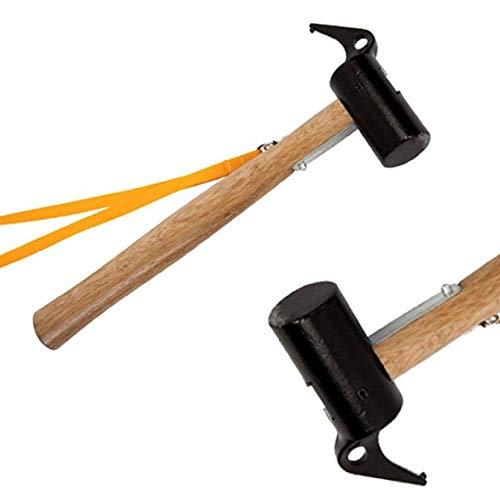 ZMJY Camping Hammer, Outdoor-Zelt Markise Hammer Nagel Puller Camping Wandern Outdoor-Mehrzweck-Tool leicht