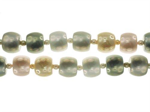 Creative-Beads schelpparel trommel 12 mm multicolor pastel, voor het zelf maken van sieraden, decoratie en knutselen