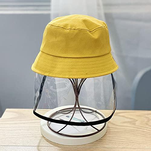 VSDFS Cappello da Secchio di Protezione per Il Viso Cappello Antispruzzo Impermeabile Antispruzzo per Bambini All'Aperto Sicuro 1-3-7 Anni 48-52 Cm Giallo