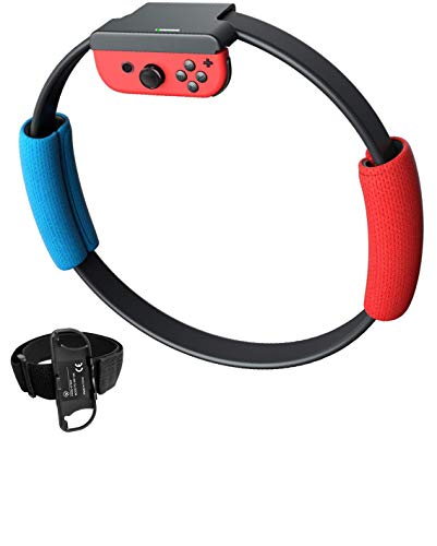 YIKESHU (No Game Include) Ring Con and Leg Strap for Switch Ring Fit Adventure Game NS Ring and Elastic Movement...