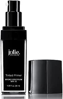 Jolie Tinted Foundation Face Primer SPF 20 Sunscreen, Subtle Radiance/Supreme Hydration - All Skin Types (Medium)