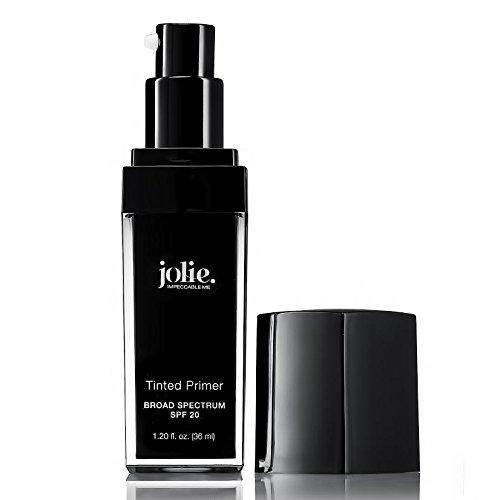 Jolie Tinted Foundation Face Primer SPF 20 Sunscreen, Subtle Radiance/Supreme Hydration - All Skin Types (Light)