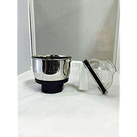 Preethi Stainless Steel MGA - 504 Genie Jar (0.5L, Silver).