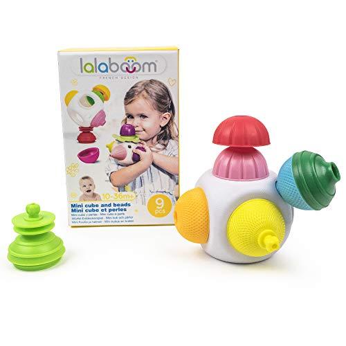 Lalaboom BL650 3686161 Lernspielzeug für Kinder, Würfel-Entdeckerspiel, 9-teilig, Mehrfarbig