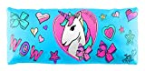 JoJo Unicorn Decorative Striped Body Pillow Cover - Kids Super Soft 1-Pack Bed Pillow Cover - Measures 20 Inches x 54 Inches