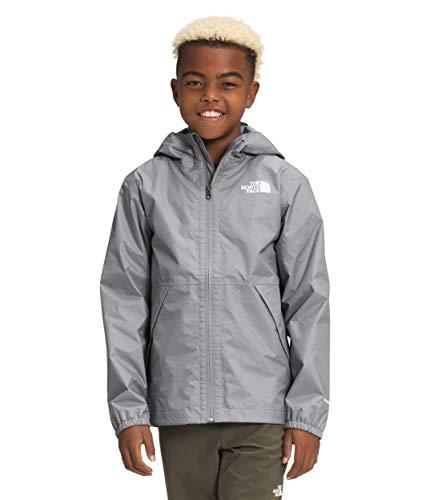 The North Face Boys' Zipline Rain Jacket, Meld Grey, L -  NF0A53C4