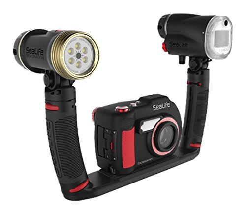SeaLife DC2000 Pro Duo Kompaktkamera 20 MP 1 Zoll CMOS 5472 x 3648 Pixel Schwarz, Rot - Digitalkameras (20 MP, 5472 x 3648 Pixel, 1 Zoll, CMOS, Full HD, Schwarz, Rot)