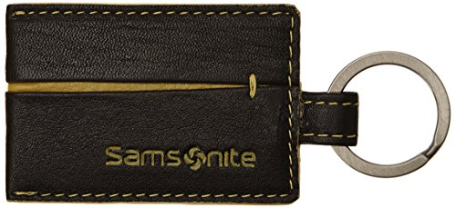 Samsonite S-Pecial SLG Key Ring Leather Portachiavi, Pelle, Brown/Lime, 6 cm