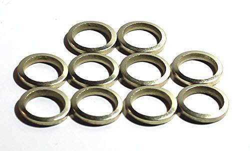 20 Stück Fitschenringe Ø 13 mm, Stahl vermessingt, Fitschenring Maße: 13,2 x 18,8 x 1,8 mm