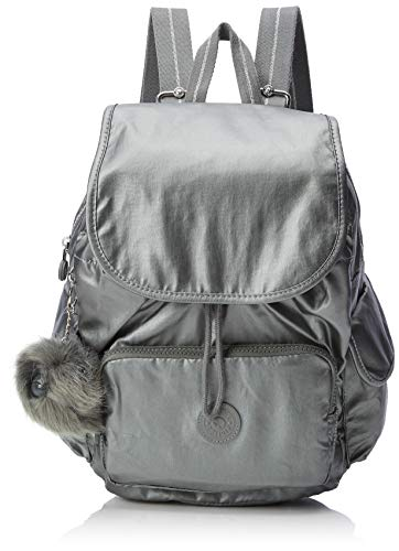 Kipling Damen City Pack S Rucksack Grau (Metallic Stony)