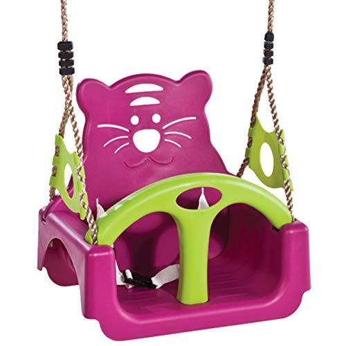WOAIM 3 En 1 Asiento De Columpio Juguete De Childs El Plastico Oscilación del Niño De Los Niños Ajustable Al Aire Libre Oscilación De Los Niños del Jardín Seguro Accesorios Columpio para Bebés