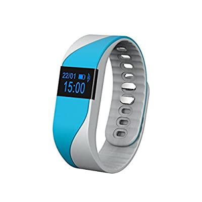 TopSun Bluetooth 4.0 Wireless Smart Bracelet, [NEW VERSION] Heart Rate Monitor Fitness Tracker Band Outdoor Activity Wristband with OLED Display for Android 4.4+, IOS 7.1+ Device
