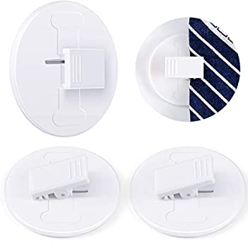 Self Adhesive Shower Curtain Clips Shower Windproof Splash Guard Bathroom Curtain Weight Clip for Home  4