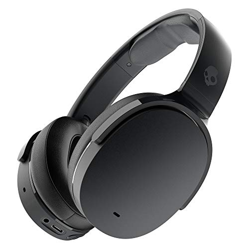 Skullcandy Hesh ANC (Active Noise Cancellation) Wireless Over-Ear Headphone with Up to 22 Hours of Battery, Rapid Charge (10 min = 3 hrs), Built-in Tile Finding Technology (True Black)
