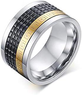 خاتم صلب للرجال ذهبي غرفة مجوهرات أسود حلقة شعبية الفولاذ المقاوم للصدأ