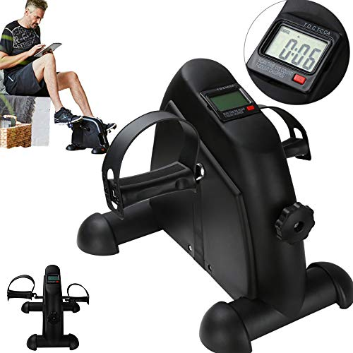wolketon Mini Bike, Mini-Heimtrainer mit LCD-Display, Armtrainer und Beintrainer, Pedaltrainer für Muskelaufbau, Ausdauertraining, ideal für Senioren, leise und einstellbaren Widerstand