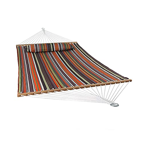 XiYou Patio Watcher Hammock Quick Dry Hammock Double Size Spreader Bar Outdoor Patio Yard Poolside Hammock with Chains, 2 Person Hammock 450 Pound Capacity
