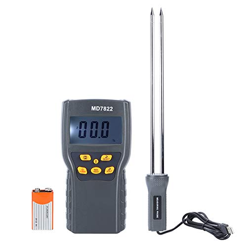 Shanrya Misuratore di umidità Digitale, misuratore di umidità con Display LCD di Grandi Dimensioni, per Chicchi di caffè di Grano e Mais