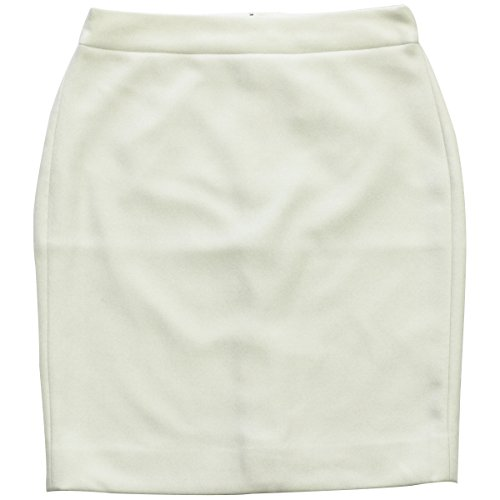 J. Crew Tall No. 2 Pencil Skirt in Double-Serge Wool (Ivory) (16)