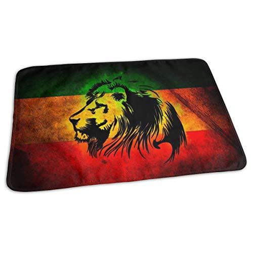 Matelas à langer portable - Imperméable et réutilisable - Pour changer de couche - Design unisexe pour filles et garçons - Drapeau du Lion jamaïcain