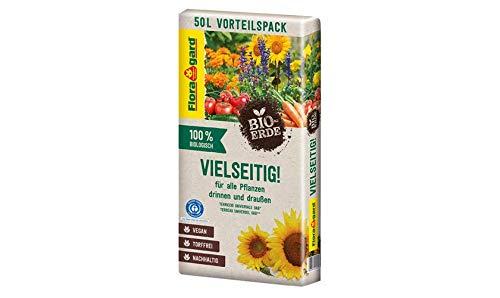 Floragard Vegane Bio-Erde (Vielseitig) für alle Pflanzen 50 L