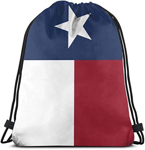 Yuanmeiju Flag of Texas State Drawstring Backpack Gym Sack Cinch Bag String Bag