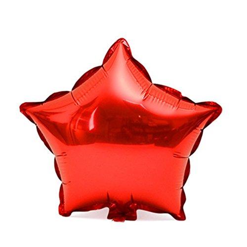 18 inch folie stervorm ballon helium metallic verjaardagsfeestje decor rode ster