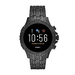 Image of Fossil Gen 5 Garrett Stainless Steel Touchscreen Smartwatch with Speaker, Heart Rate, GPS, NFC, and Smartphone Notifications: Bestviewsreviews