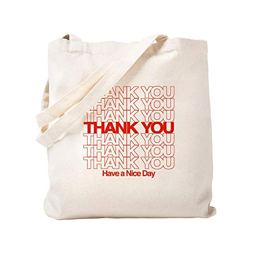 CafePress Thank You Have A Nice Day Natural Canvas Tote Bag, Reusable Shopping Bag