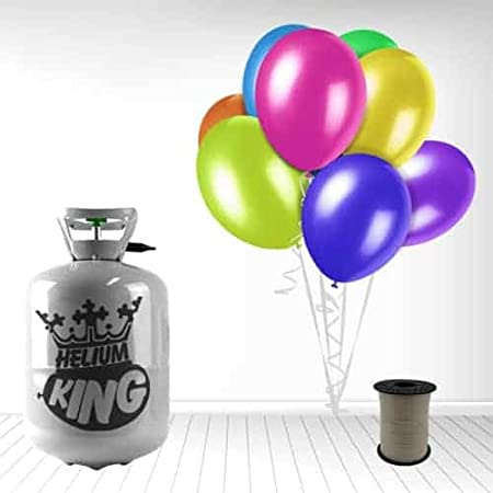 Helium King Gas Bottle / Disposable Gas Cylinder / Cannister - Including 30 9 Inch Balloons