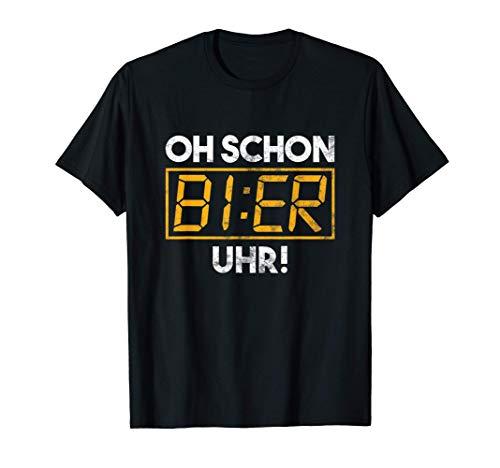 Bier Uhr Brauerei Brauen Biergarten Brauer Bierkrug Geschenk T-Shirt