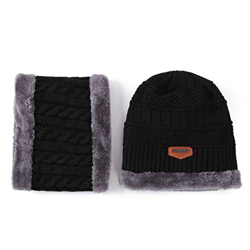 Dames mutsen imitatiebont muts heren wintermuts warm chic beanie en sjaal wintersjaal tweedelig caps